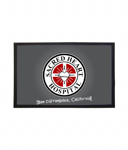 Sacred Heart Hospital from Scrubs Doormat Welcome Mat